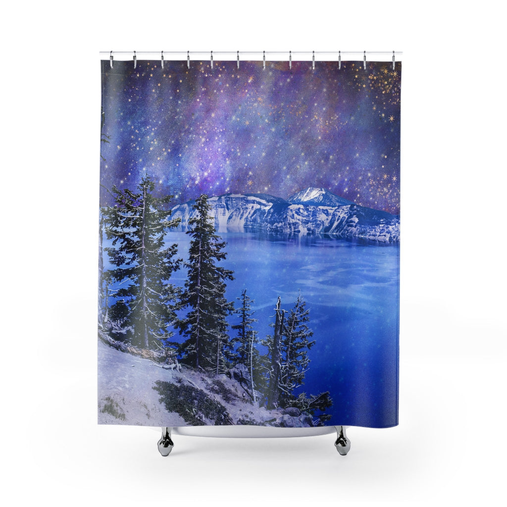 Edge of the World Shower Curtain 71x74 Printify