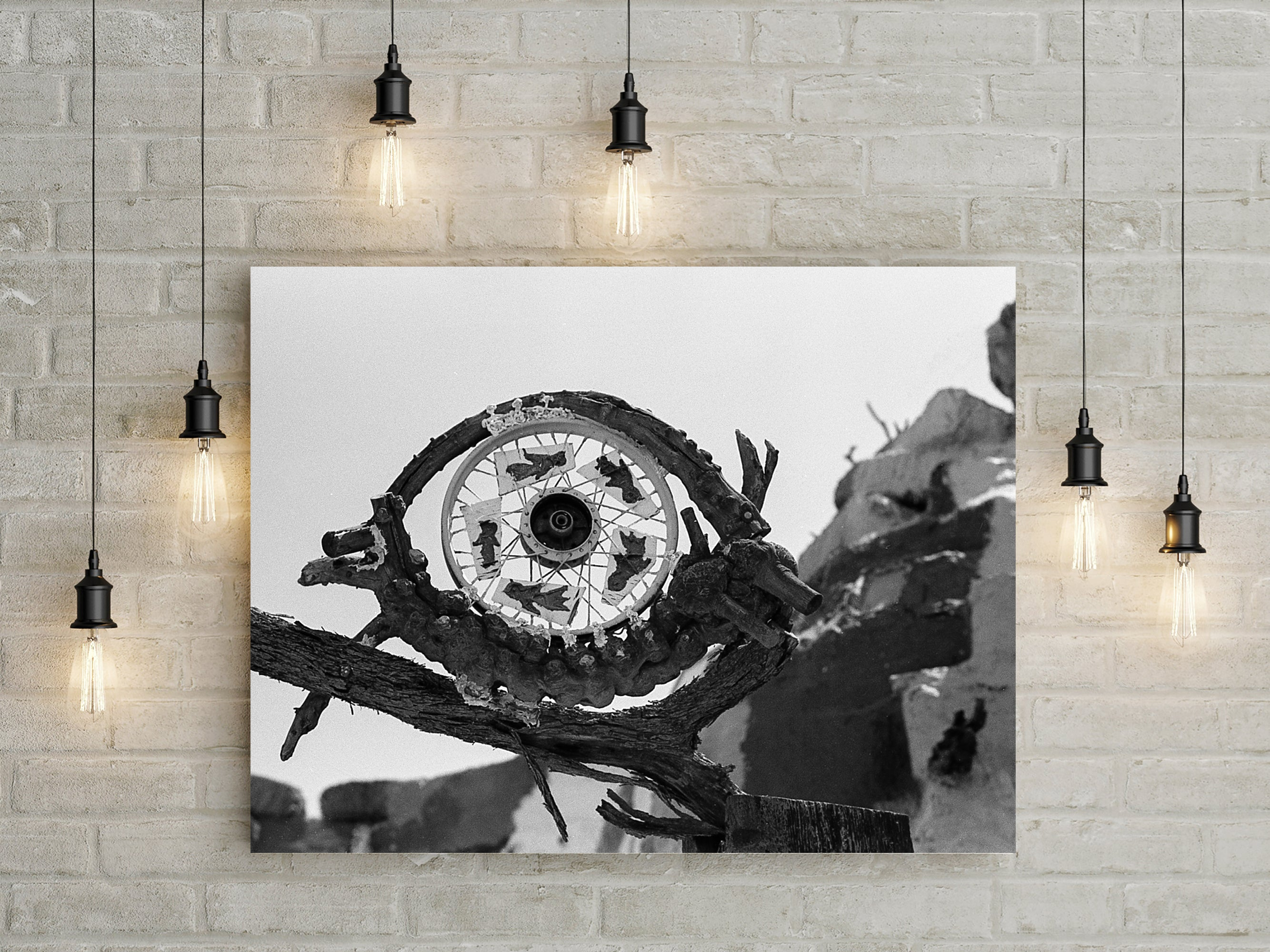 Evil Eye Recycled Scrap Metal Sculpture Art Print