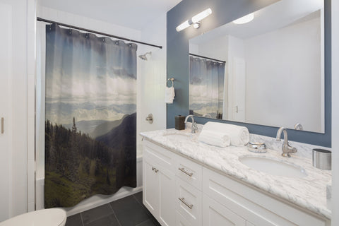 Endless Mountains Shower Curtains 71x74 Printify