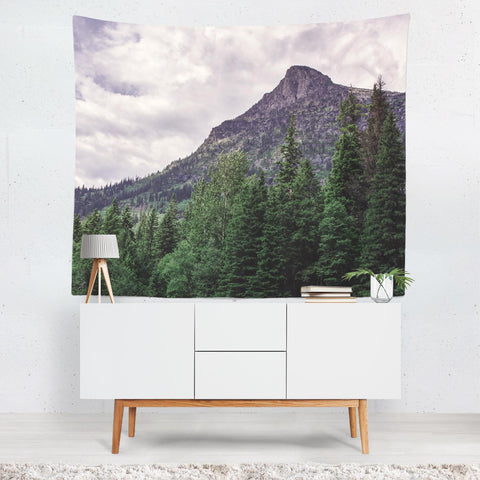 Epic Mountain Peak Wall Tapestry Lost in Nature