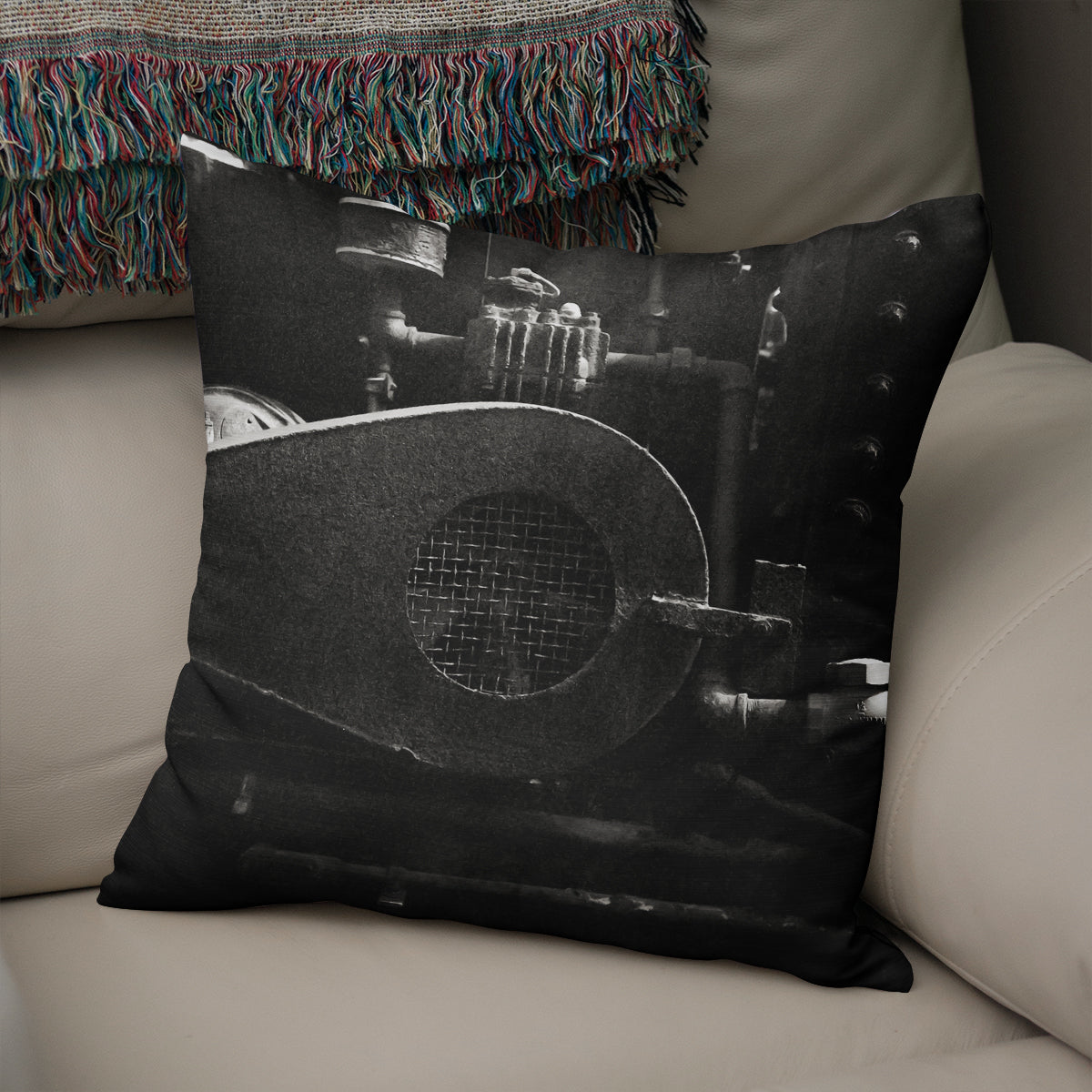 Industrial Machinery Throw Pillow Cover- 5 Sizes