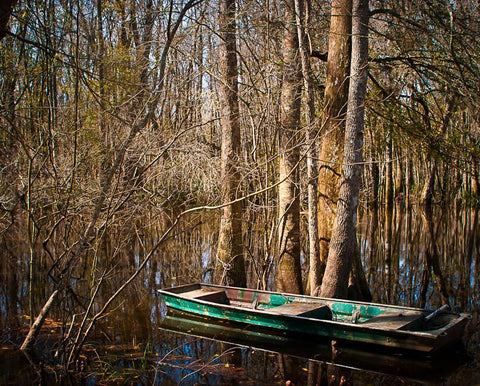 Fishing Boat, Ogeechee River, Georgia Photography - Fine Art Print Lost Kat Photography