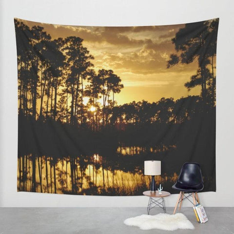 Florida Sunset Wall Tapestry Lost in Nature