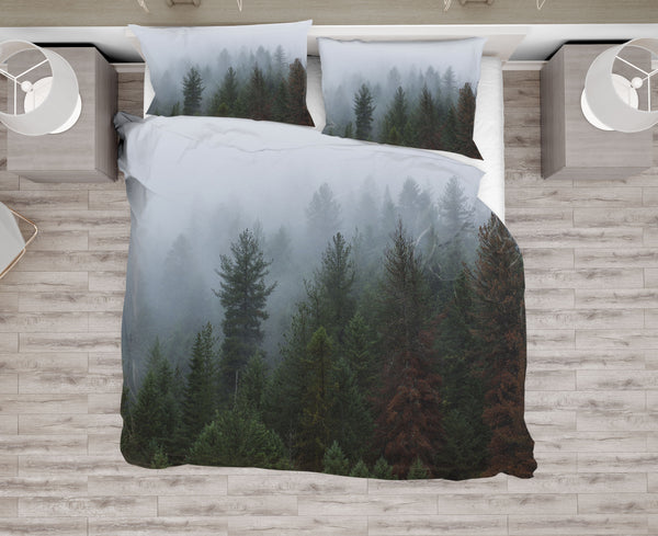 Moody Foggy Forest Duvet Cover or Comforter