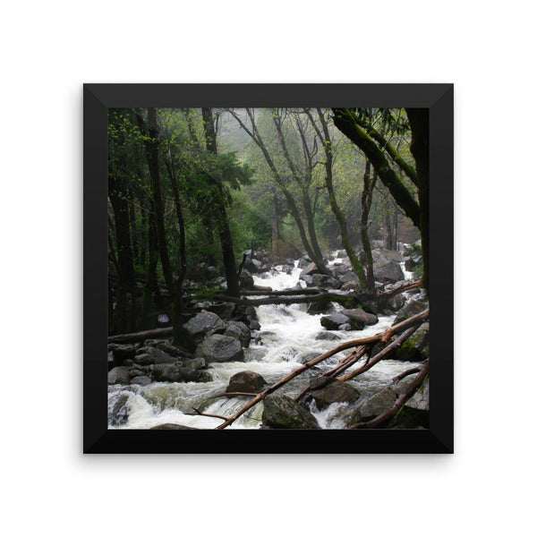 Foggy Mountain Forest - Framed Photo Print 10×10 Lost Kat Photography
