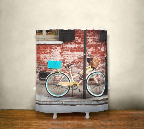 French Quarter Bicycle Shower Curtain Lost In Nature