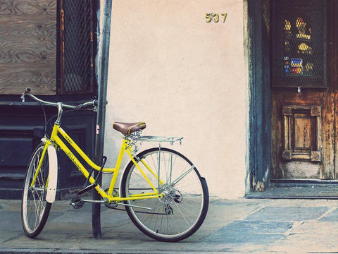 French Quarter, New Orleans, Yellow Bicycle Photography Lost Kat Photography