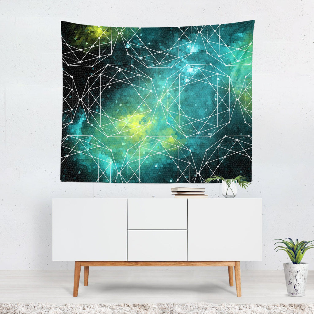 Geometric Space Wall Tapestry Lost in Nature