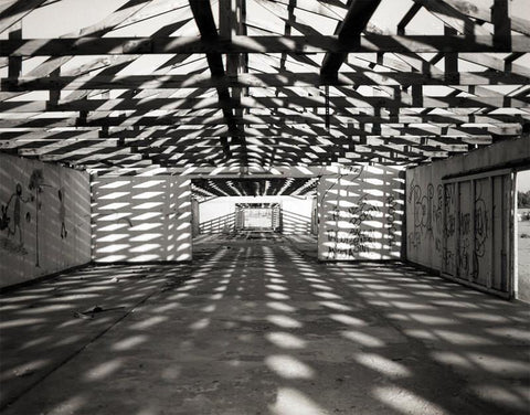 Geometric Warehouse, Black and White Photography - Fine Art Print Lost Kat Photography
