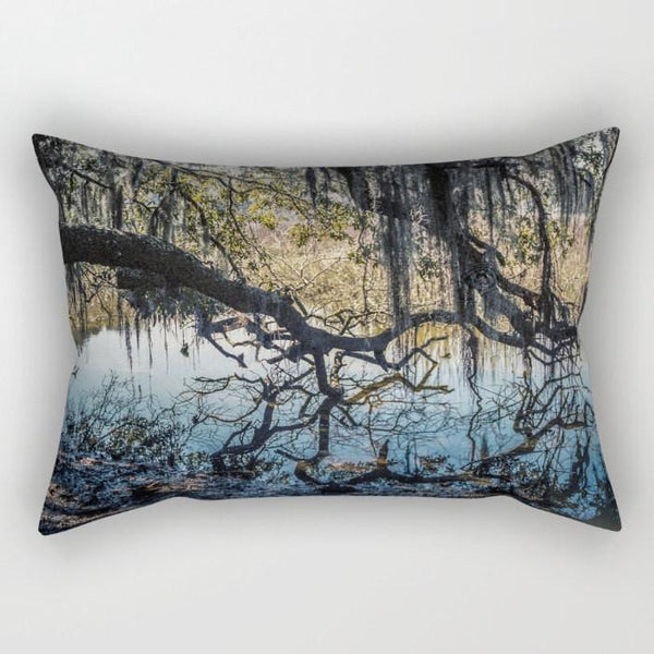 Georgia Coast Swamp Rectangular Throw Pillow Lost In Nature