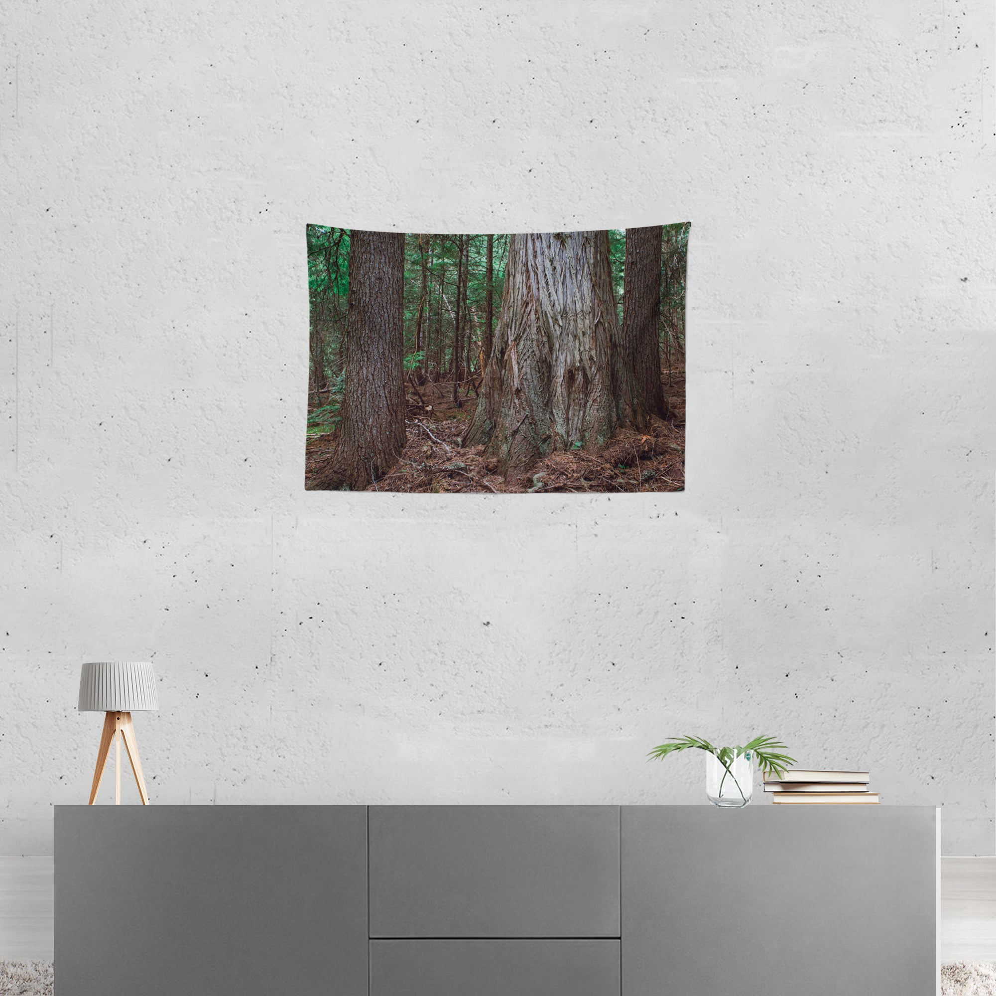 Mysterious Cedar Forest Wall Hanging