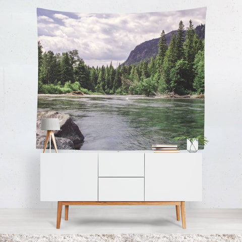 Glacier River Wall Tapestry Lost in Nature