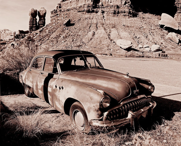 Hot Buick in the Sun - Fine Art Print Lost Kat Photography
