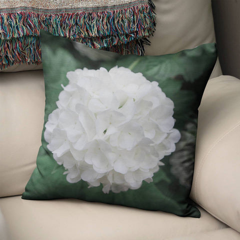 Hydrangea Flower Floral Throw Pillow Cover Lost in Nature