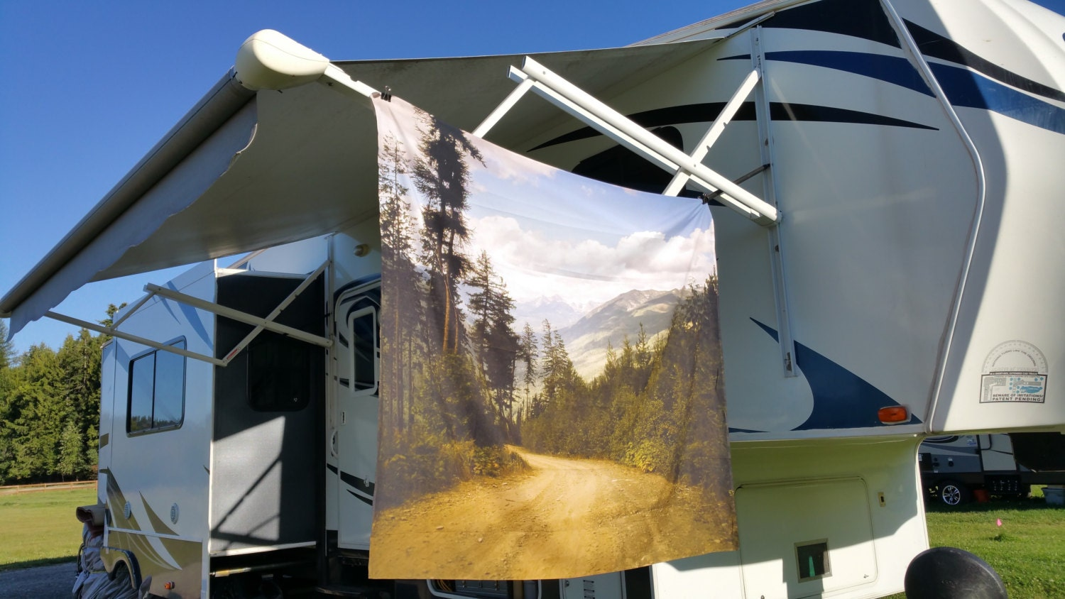 Canadian Mountain Road Wall Tapestry Outdoors
