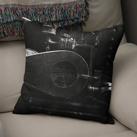 Industrial Machinery Throw Pillow Cover Lost in Nature