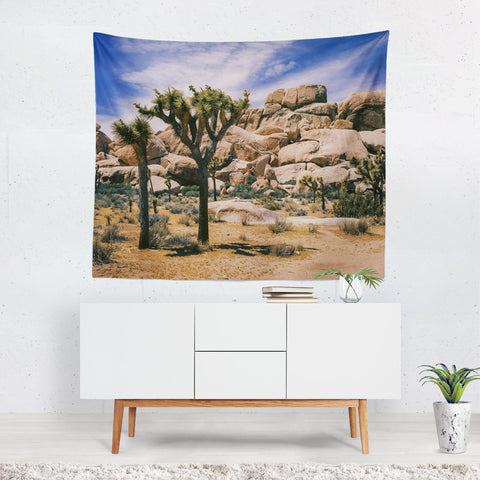 Joshua Tree, California Desert Wall Tapestry Lost In Nature