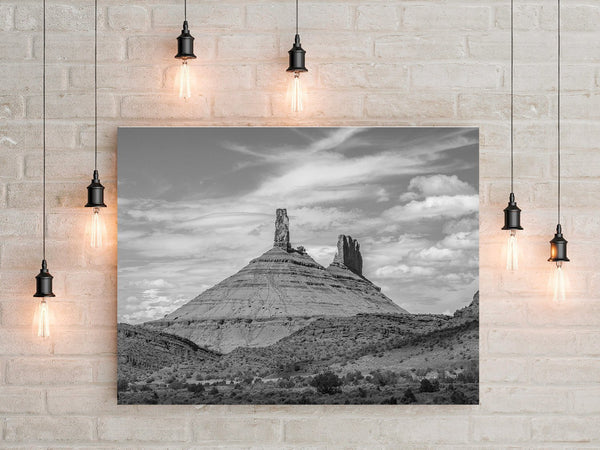 King and Castle, Southwest Black and White Fine Art Print Lost Kat Photography