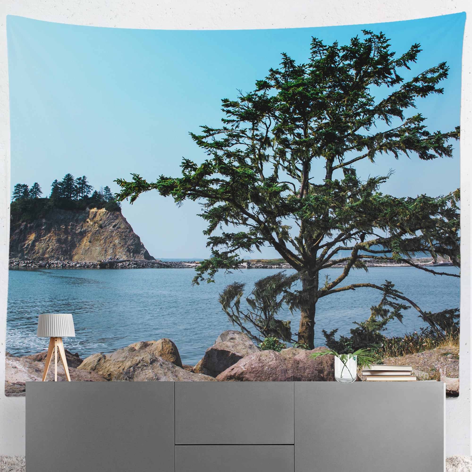 La Push Coastline Beach Microfiber Wall Tapestry