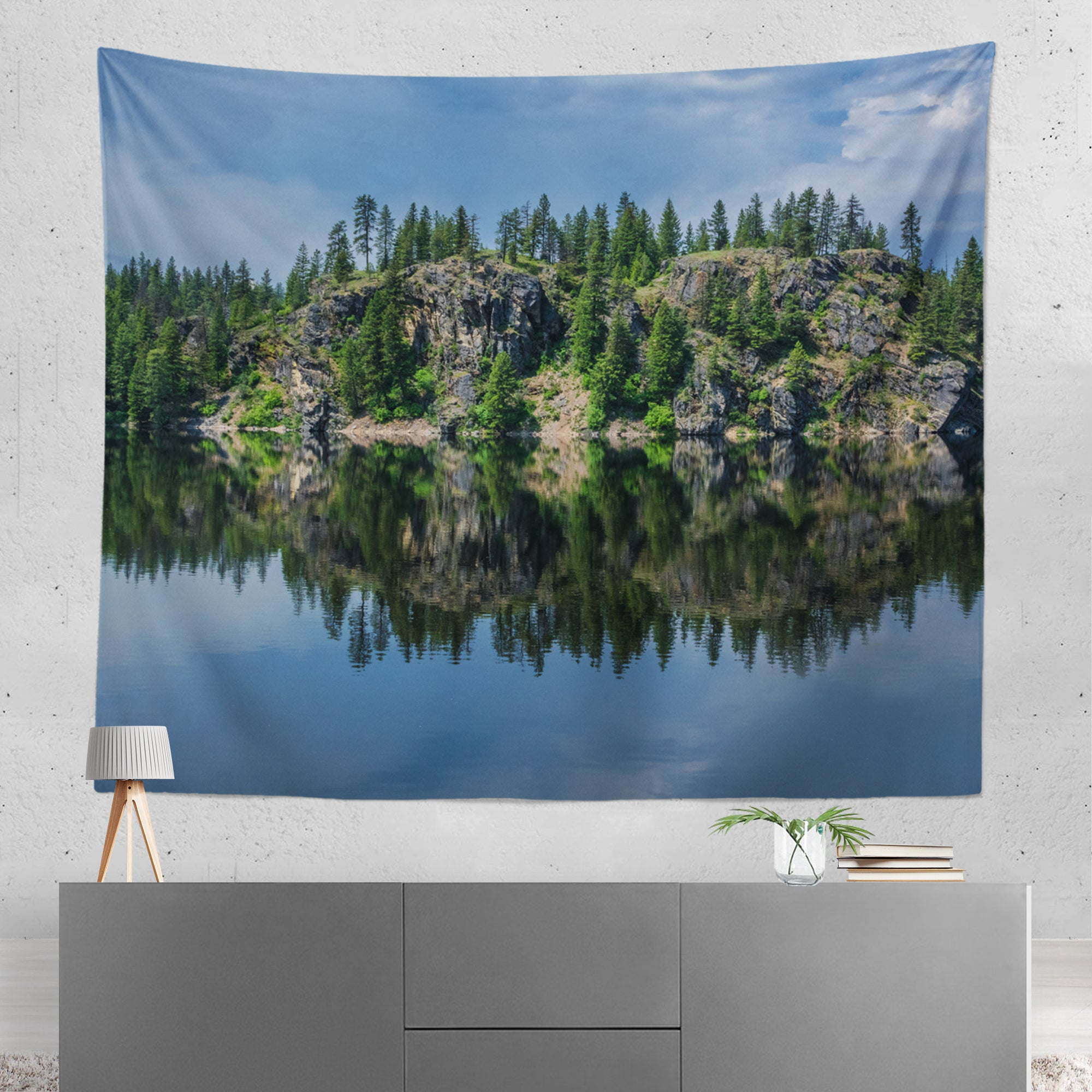 Relaxing Lake Reflections Wall Hanging