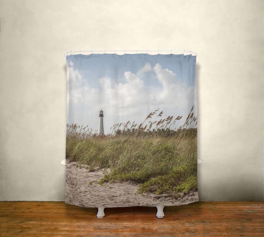 Lighthouse Beach Shower Curtain Lost In Nature