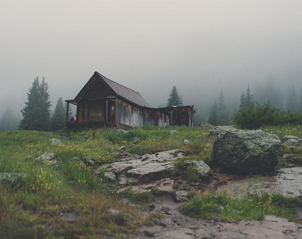 Lonely Mountain Cabin, Rustic Fine Art Photography Lost Kat Photography