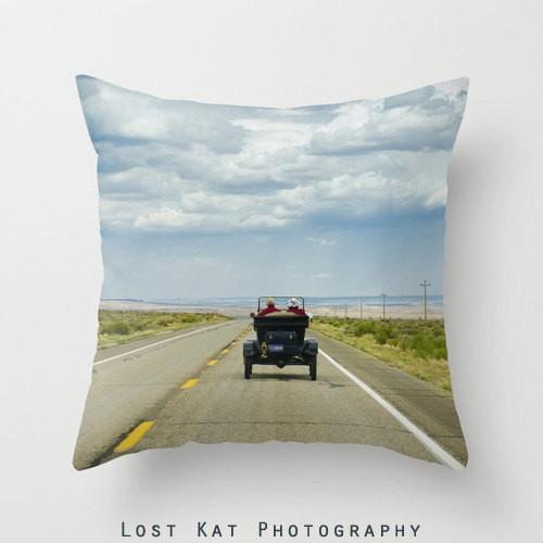 "Love on Route 66 18"" Throw Pillow Lost In Nature"