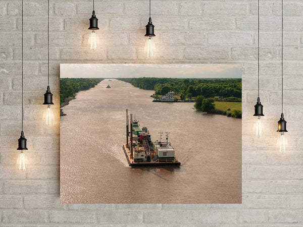 Mississippi River Barge, Fine Art Photography Lost Kat Photography