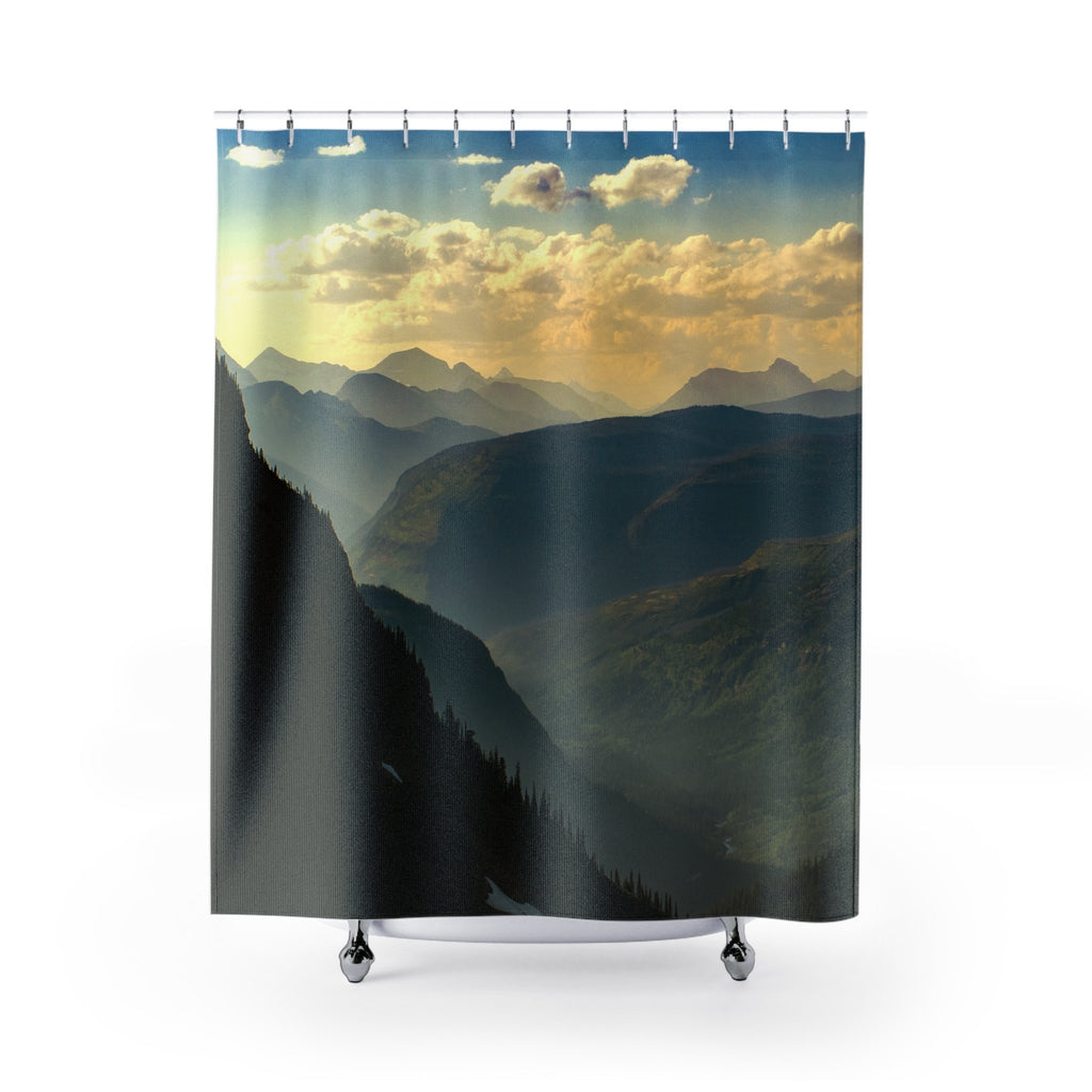 Montana Mountain Range Shower Curtains 71x74 Printify