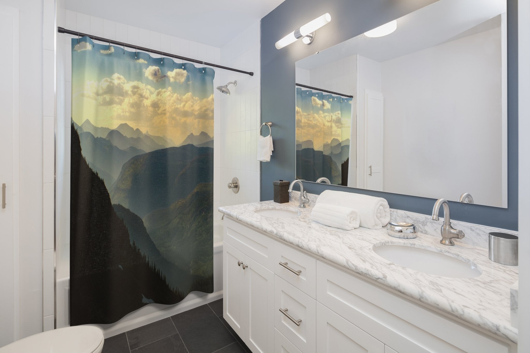 Montana Mountain Range Shower Curtain – Lost Kat Photography