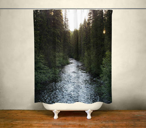 Montana River Shower Curtain Lost in Nature