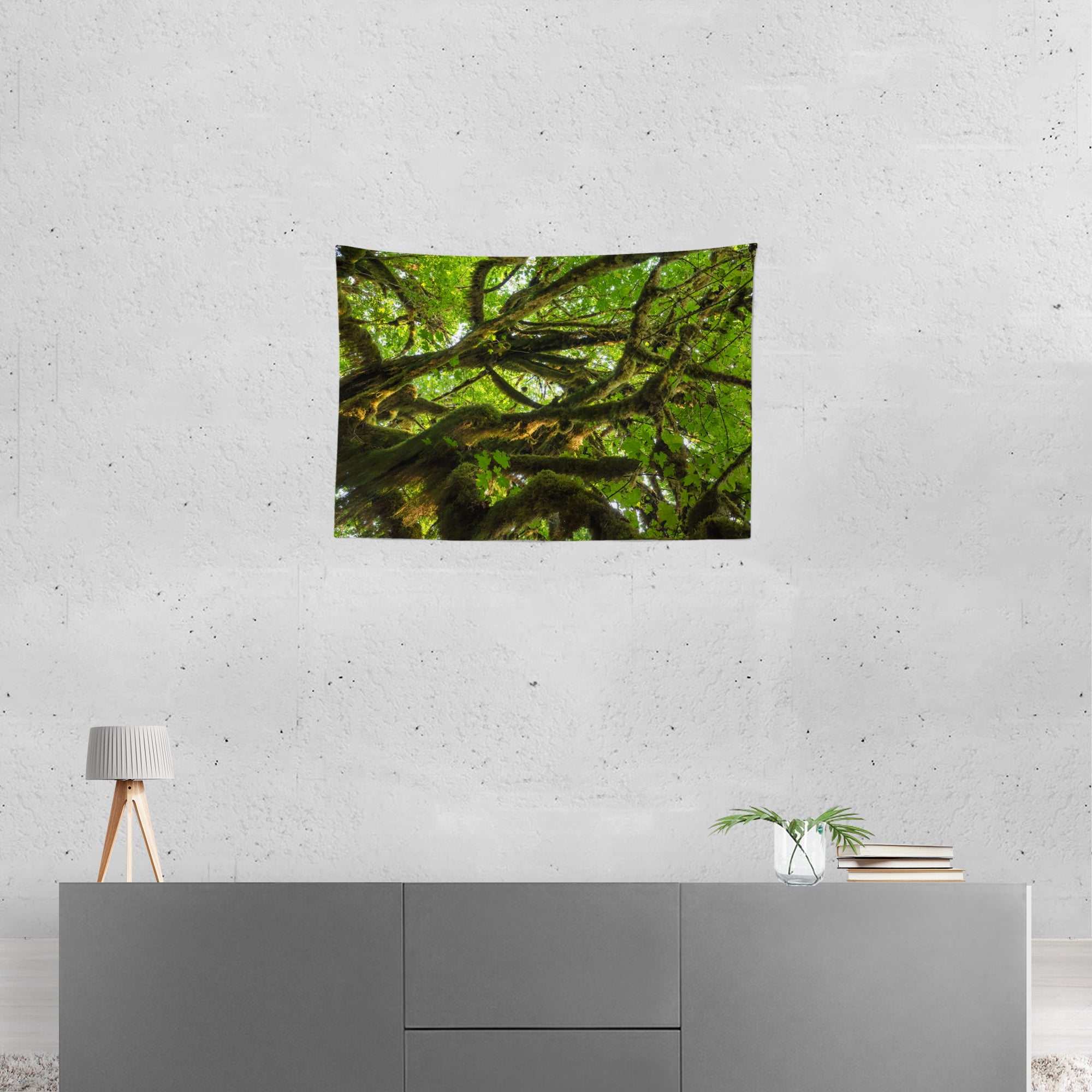 Mossy Tree Above Nature Wall Hanging