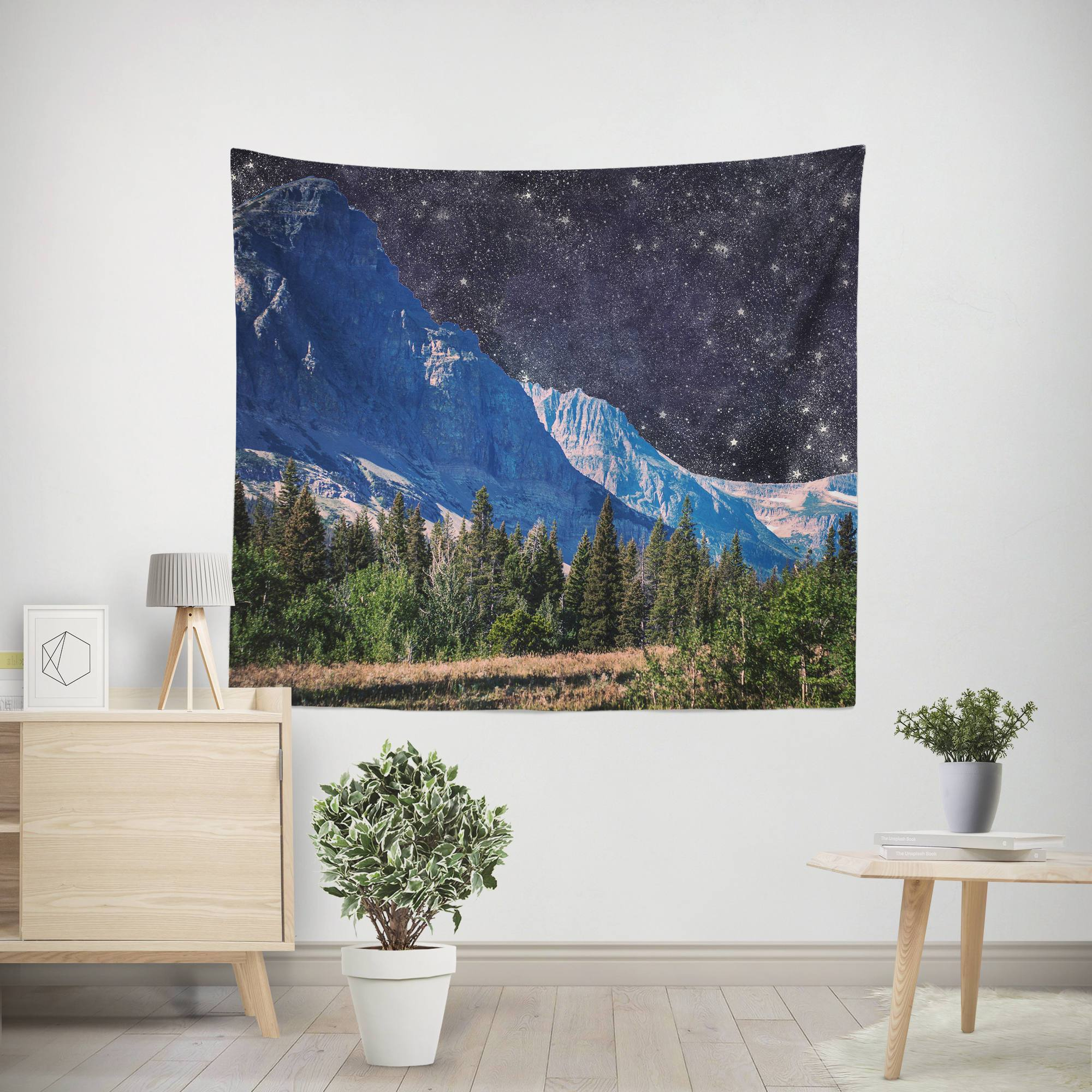 Mountain and Space Wall Tapestry Lost In Nature