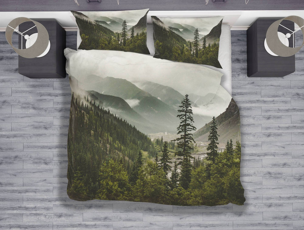 Mountain Range, Wanderlust Duvet Cover Set - Twin, Queen, King Lost in Nature
