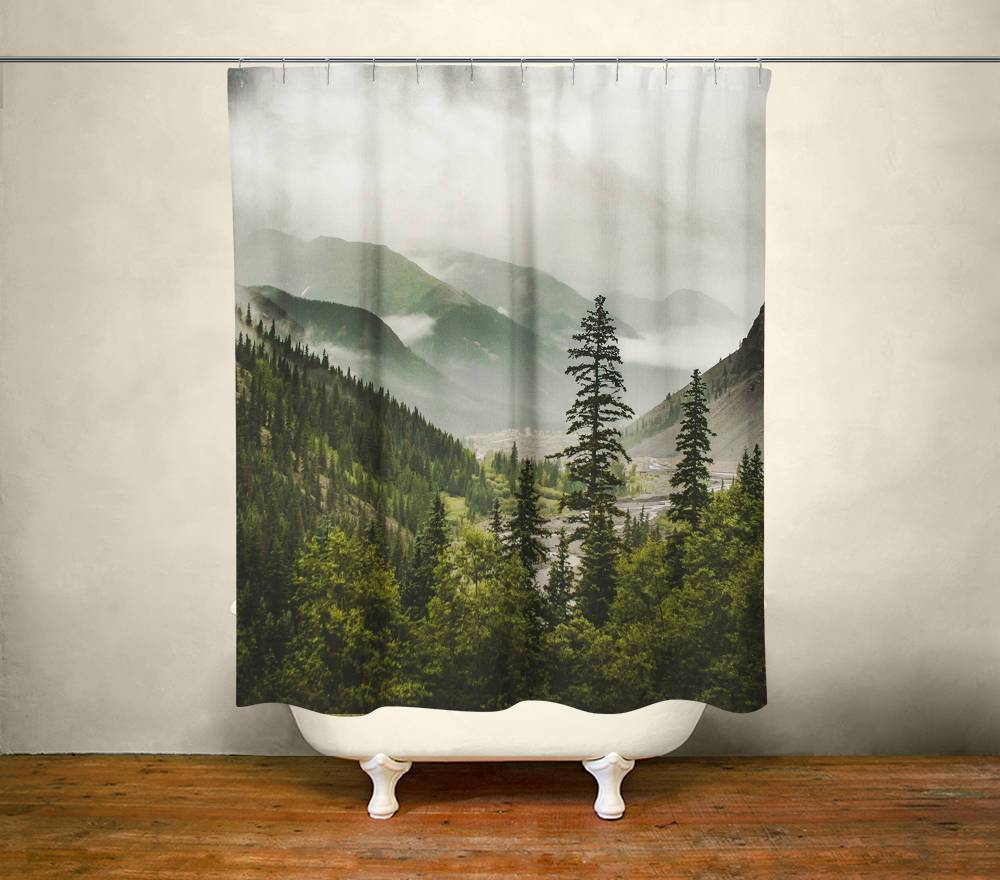 Mountain Valley Shower Curtain Lost in Nature