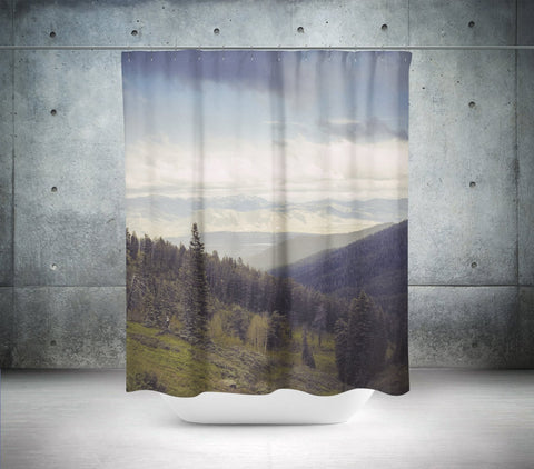 Mountains Forever, Scenic Shower Curtain Lost in Nature