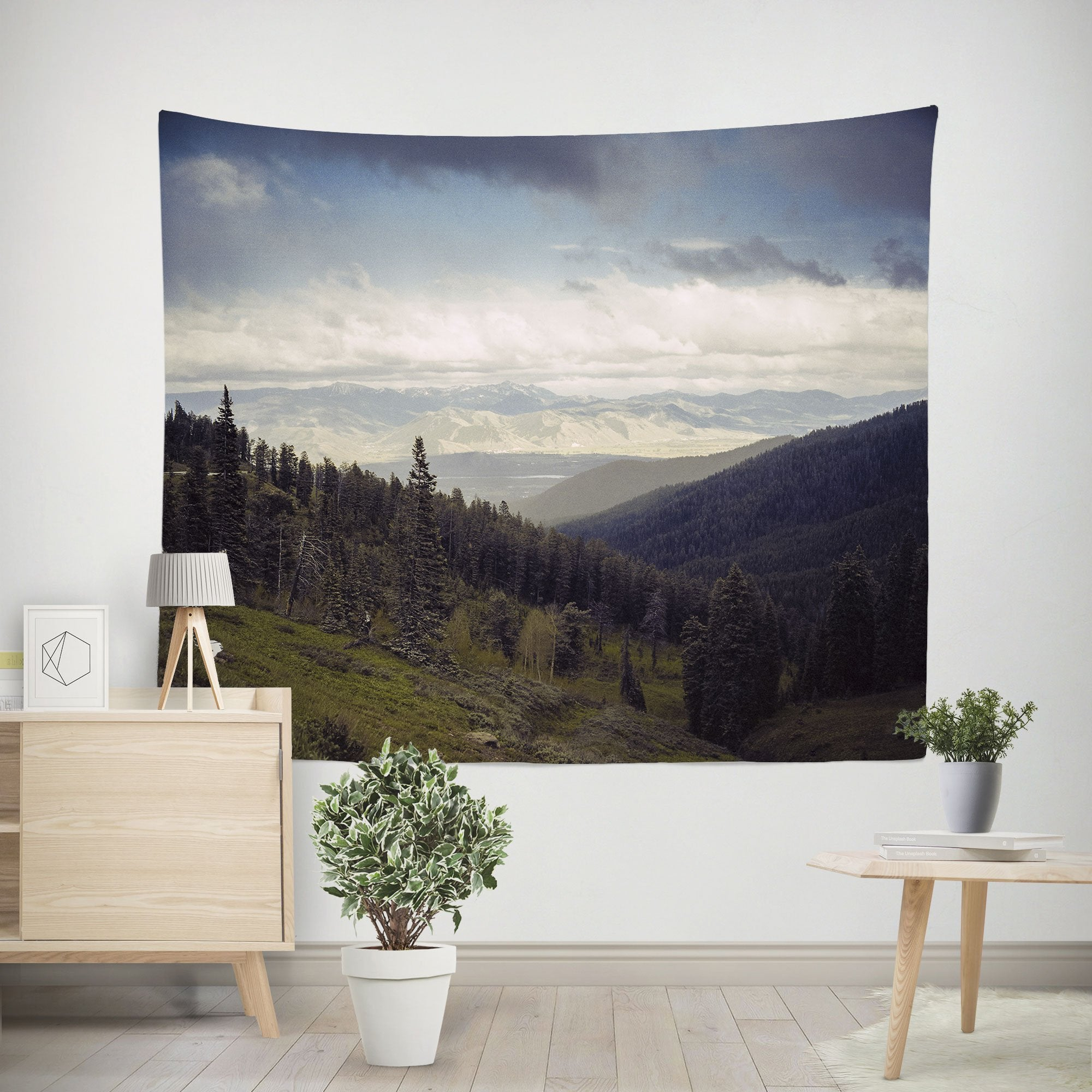 Mountains Forever, Scenic Wall Tapestry Lost In Nature