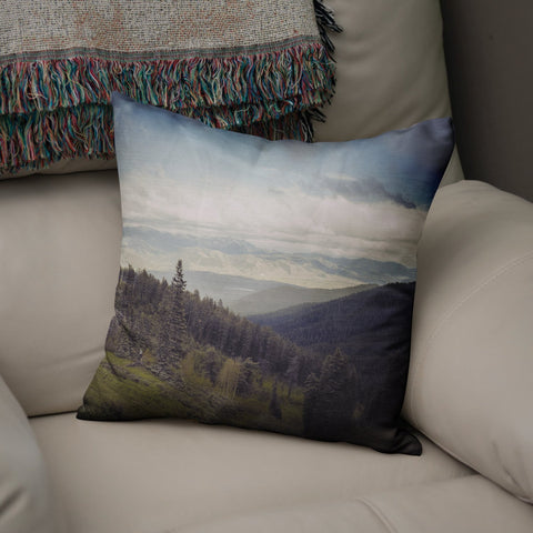 Mountains Forever Throw Pillow Lost In Nature