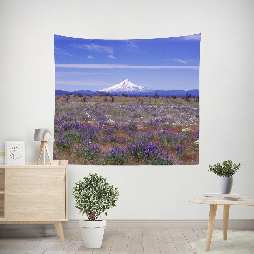 Mt Hood Oregon Wall Tapestry Lost in Nature