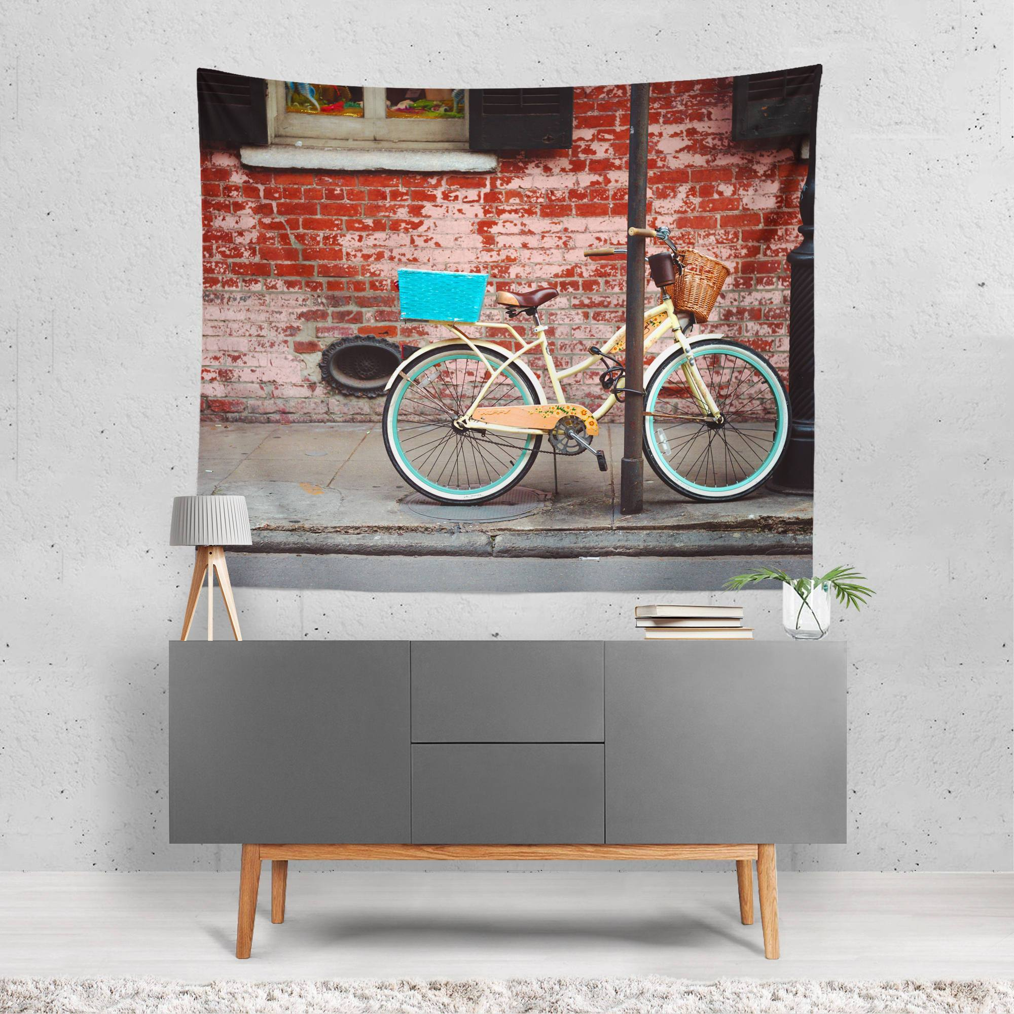New Orleans Bicycle Wall Tapestry Lost In Nature