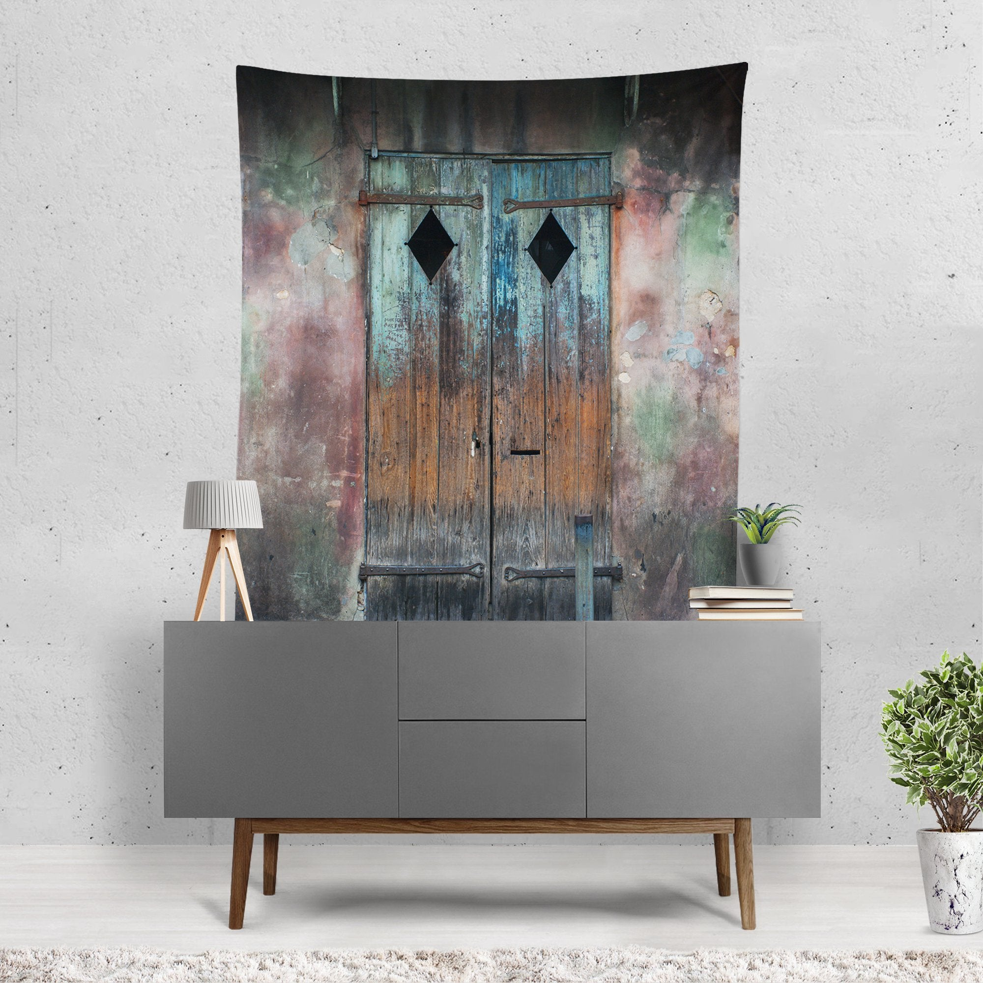 ... New Orleans Rustic Door Wall Tapestry Lost In Nature ... & New Orleans Rustic Door Wall Tapestry - 4 Sizes \u2013 Lost Kat Photography