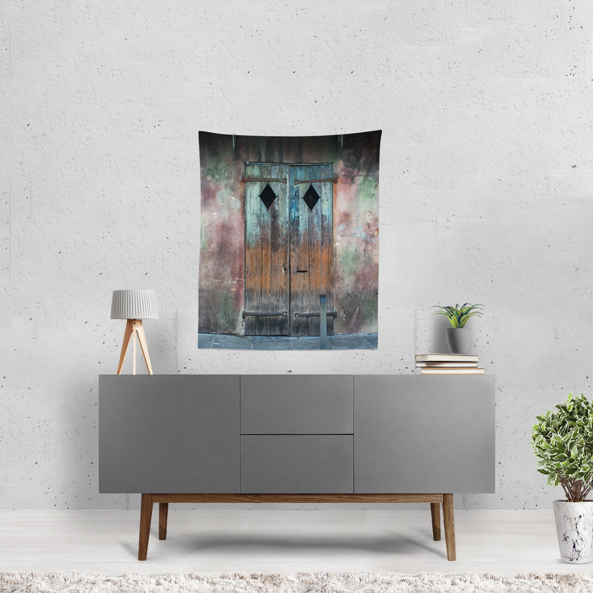 New Orleans Rustic Door Wall Tapestry Lost In Nature