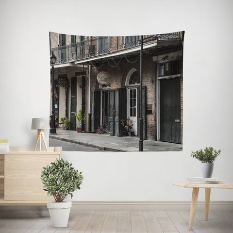New Otleans French Quarter Wall Tapestry Lost in Nature