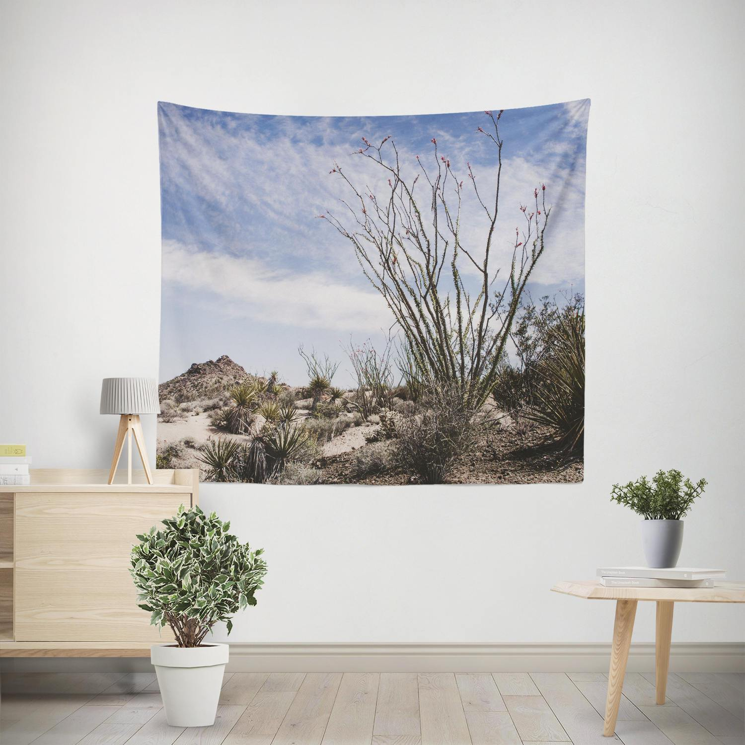 Ocotillo Plant, California Desert Wall Tapestry Lost in Nature