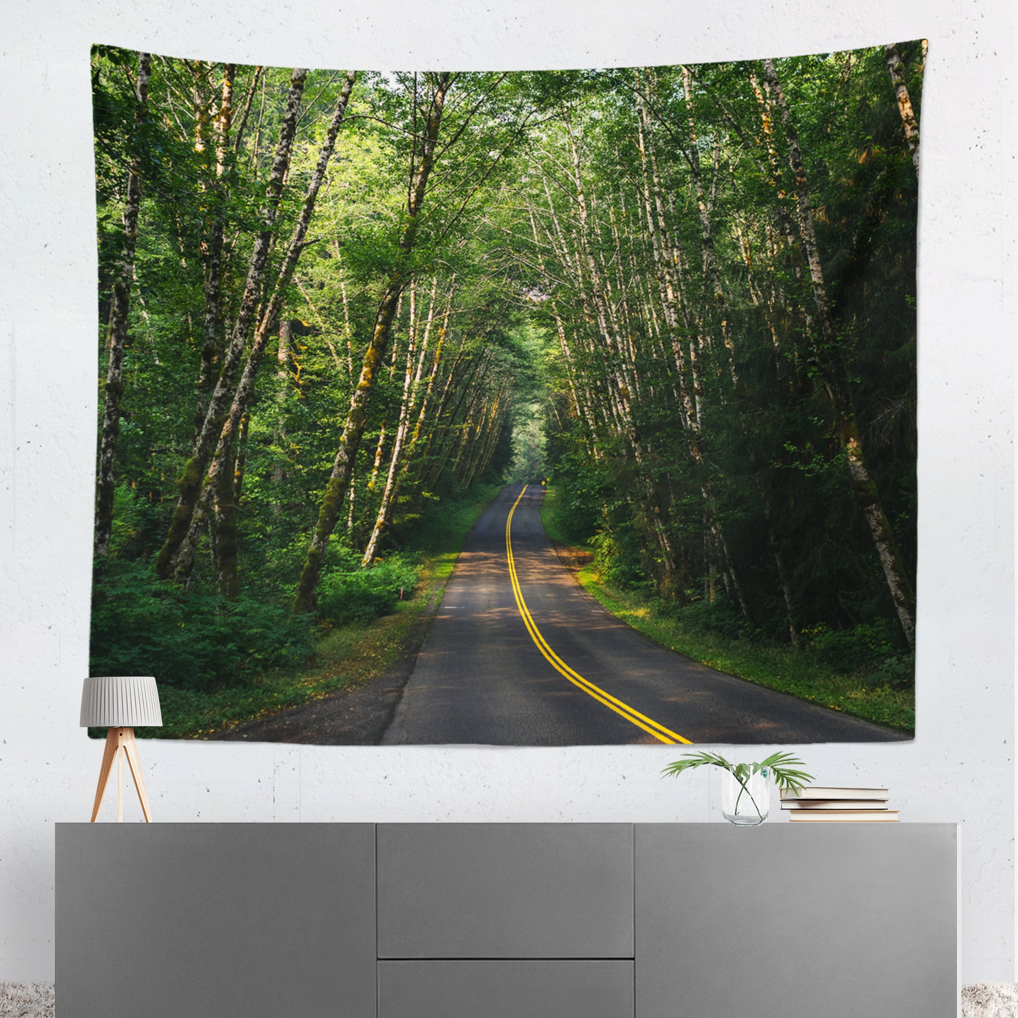 Road Through The Rainforest Wall Hanging