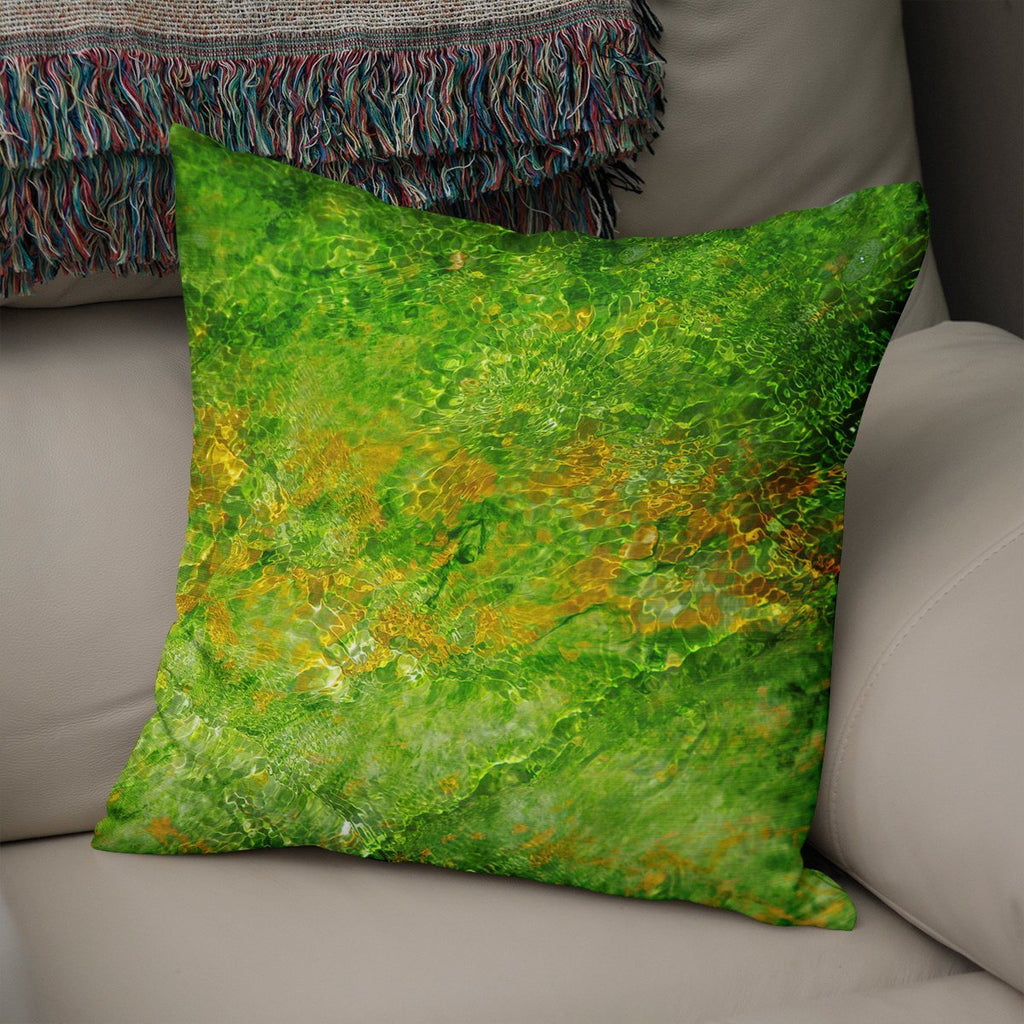 Ombre Green Throw Pillow Cover Lost in Nature