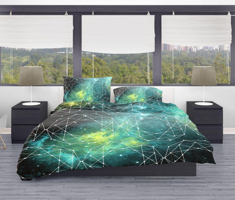 Outer Space Geometric Duvet Cover Set - Twin, Queen, King Lost in Nature