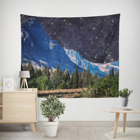 Outer Space Wall Tapestry Lost in Nature