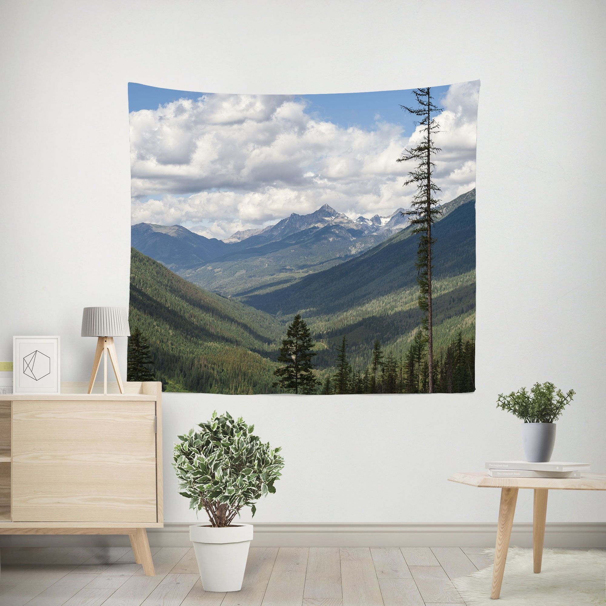 Pacific Northwest Mountains Wall Tapestry Lost In Nature