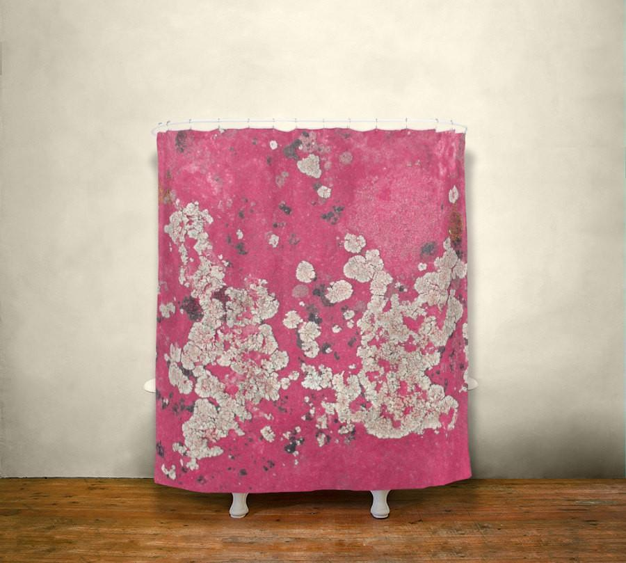 Pink Lichen, Colorful Shower Curtain Lost In Nature